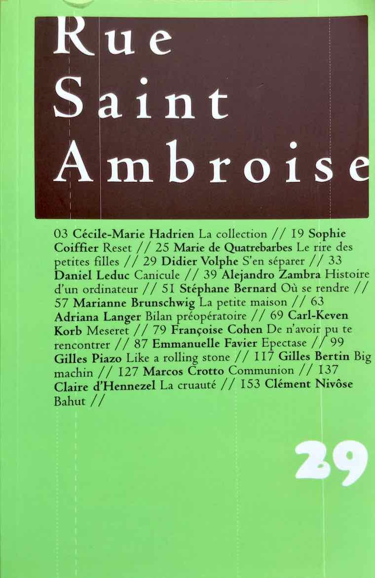 Rue Saint-Ambroise n°29