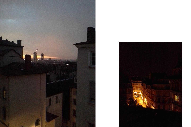 Lever de soleil à Lyon — Nuit à Paris
