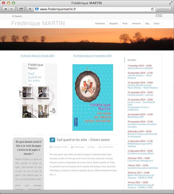 site-de-frederique-martin