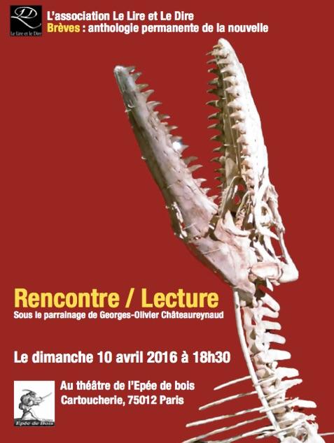 La revue Brèves à la Cartoucherie de Vincennes, théâtre de l'épée de bois, avec Georges-Olivier Châteaureynaud
