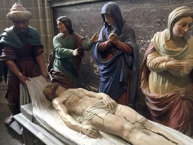 Mise au tombeau, cathédrale Saint Corentin, Quimper